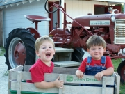Family Tractor Ride at the Farm Petting Zoo and Living Historic Museum in Door County, WI
