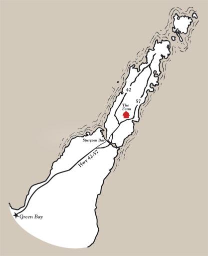 Map of Sturgeon Bay