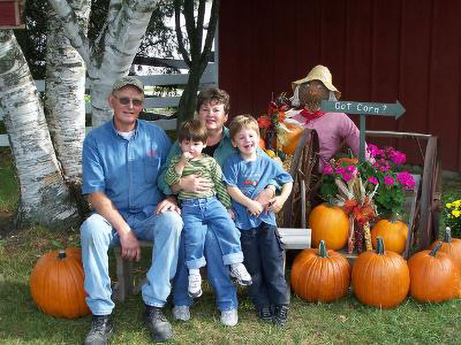 Elmer and Shirley Tanck with the Grand kids at The Farm in Door County, WI